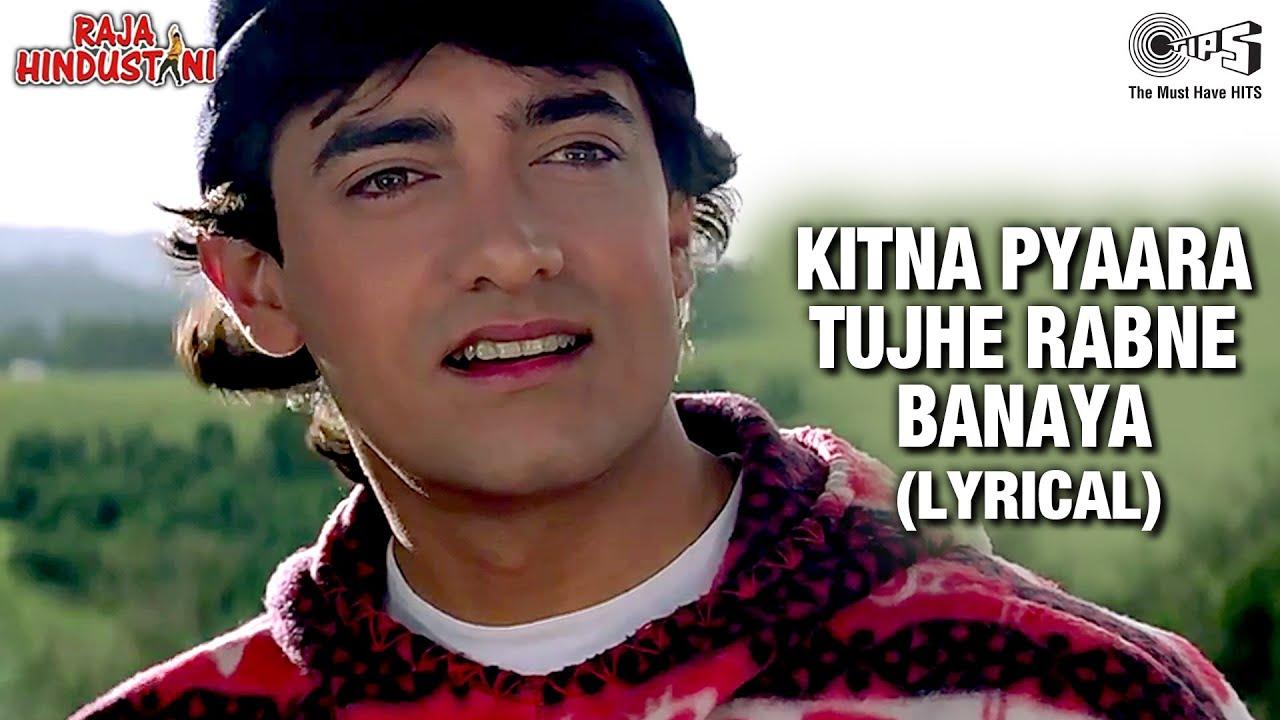 Kitna Pyaara Tujhe - Lyrical | Aamir Khan | Karisma Kapoor | Alka Yagnik | Udit Narayan | 90's Song