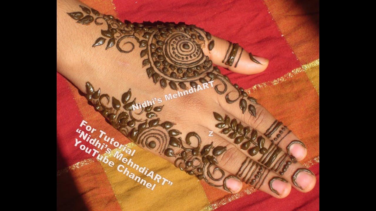 Henna Mehndi S : Unique gulf style henna mehndi mehandi design tutorial by nidhis