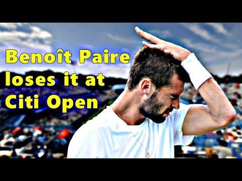 Benoît Paire loses it at Citi Open