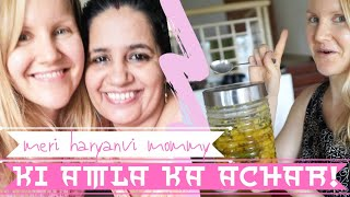 I learned how to make my HARYANVI mother-in-law's amla pickle! - Foreign girl living in India