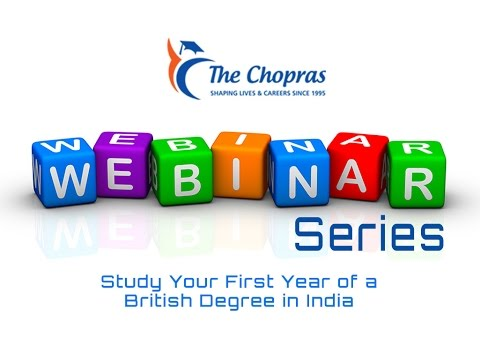 Webinar on Study your first year of a British Degree in India