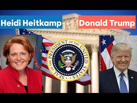 Heidi Heitkamp vs Donald Trump | 2020 Election Prediction
