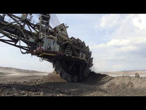 Wheel Bucket Excavators Working At Coal Mines
