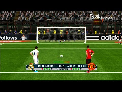 PES 2017 | UEFA Super Cup | Penalty Shootout | Real Madrid vs Manchester United | Gameplay PC