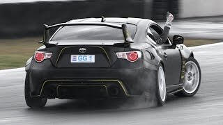 350hp Toyota GT86 with GReddy Turbo Kit - Drifting & Lovely Flutter Sound