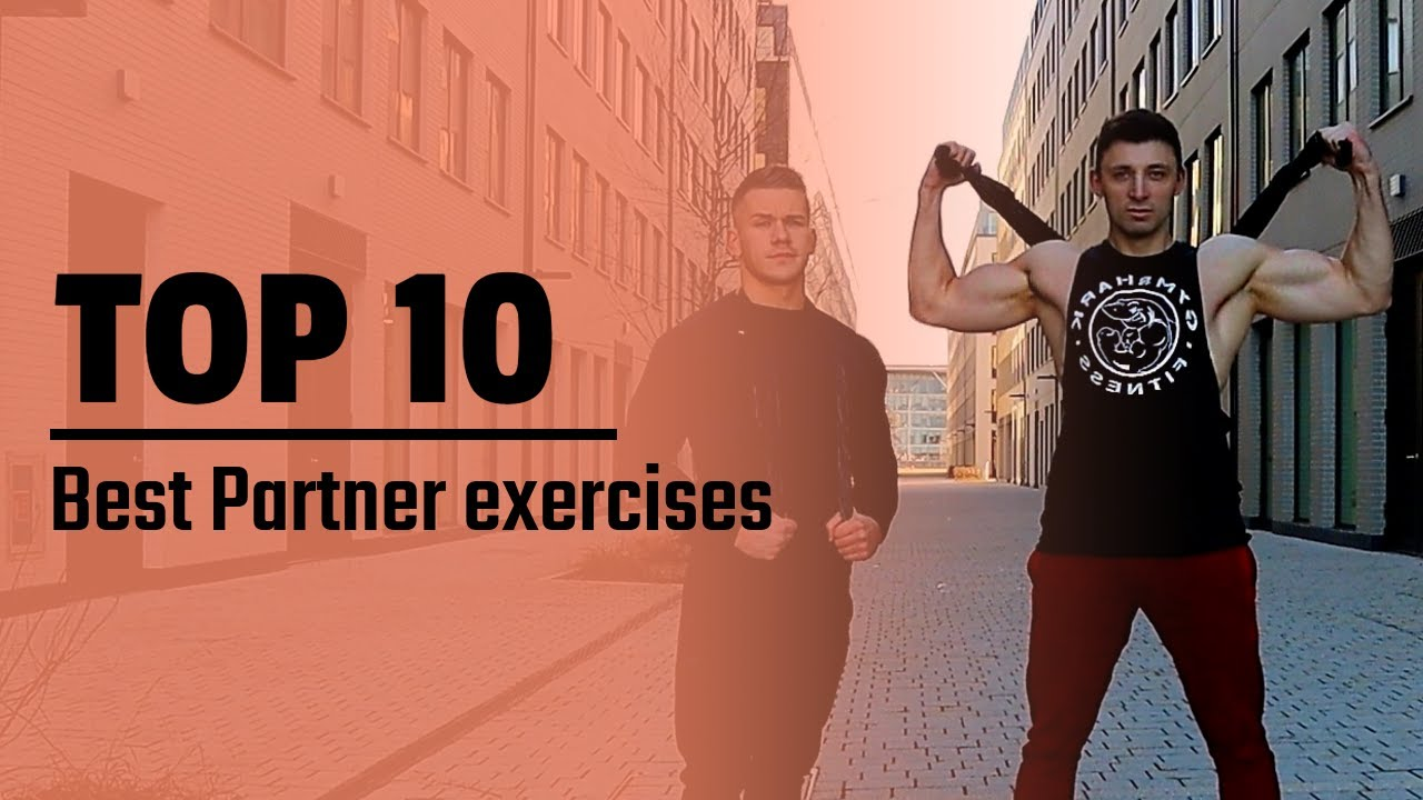 Partner workout. Top 10 Exercises for UPPER BODY