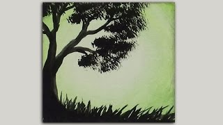 Mini Acrylic Painting - Tree Silhouette
