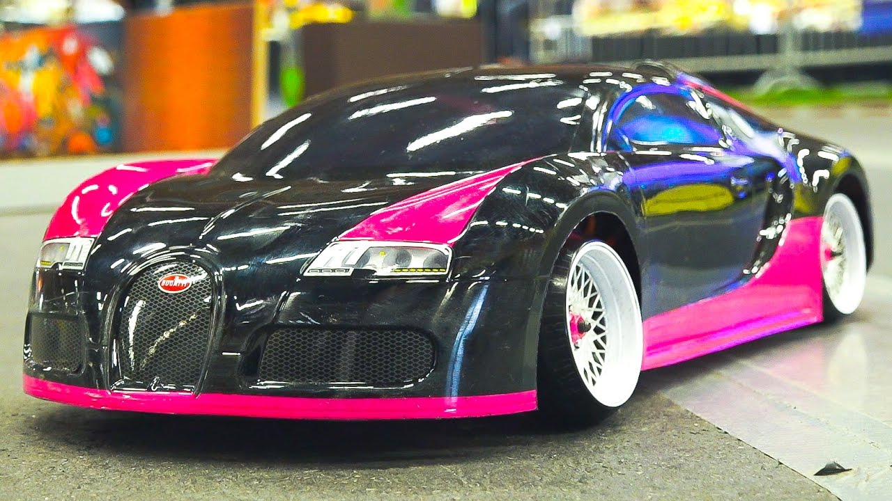 rc drift car race model bugatti veyron in awesome action. Black Bedroom Furniture Sets. Home Design Ideas