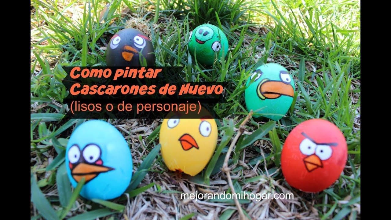 Como pintar huevos para pascua de angry birds youtube for Como pintar huevos de pascua