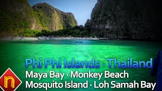 Phi Phi Islands - Maya Bay - Monkey Beach and more | Thailand 2016 in 4k