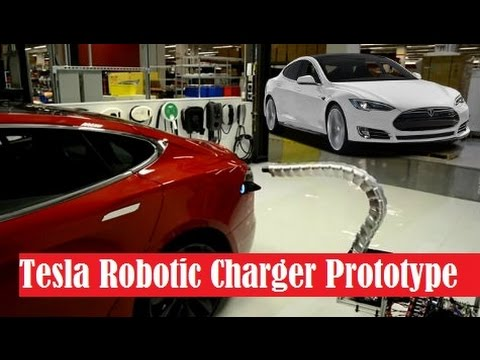 Tesla Robotic Charger Prototype, a charging system that doesn't require any human action