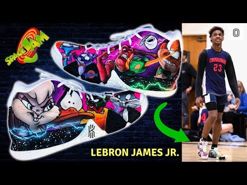 I Make Space Jam Shoes For Bronny And Bryce James! | Full Custom