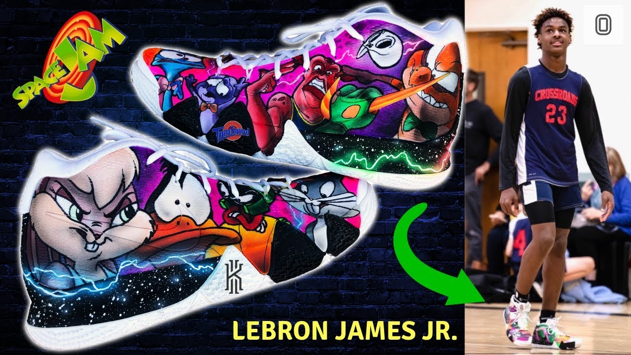 promo code 4dcfe a1987 I make Space Jam shoes for Bronny and Bryce James! | Full Custom