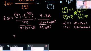 Discrete Probability - Texas Hold'em Flush example of hypergeometric distribution