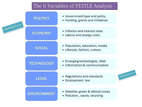 Pestle Analysis 6 Core Variables Coursework Report