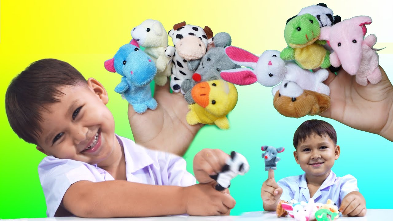 Family Finger Puppet Toy Kids Surprise Play Review Kid Puppets