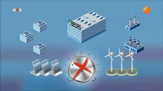 NOS journaal 5 mei 2018, fragment noodoproep elektriciteit, GIGA storage
