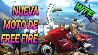 Probando la nueva moto de free fire
