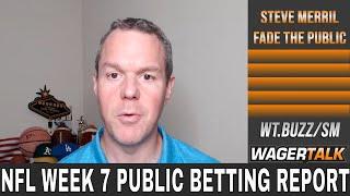 NFL Week 7 Public Betting Report | Chiefs vs Titans | 49ers vs Colts | NFL Week 7 Predictions