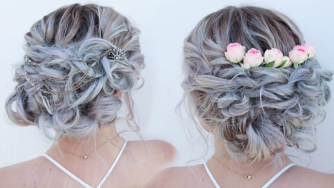 bohemian bridal bun updo (accessorized 2 ways)