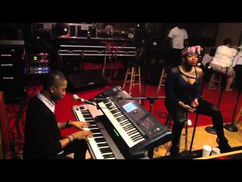 Alex rehearsing in Jacksonville Fl with Fantasia Barrino