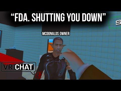 FDA INVESTIGATES McDonalds! (VR Chat)