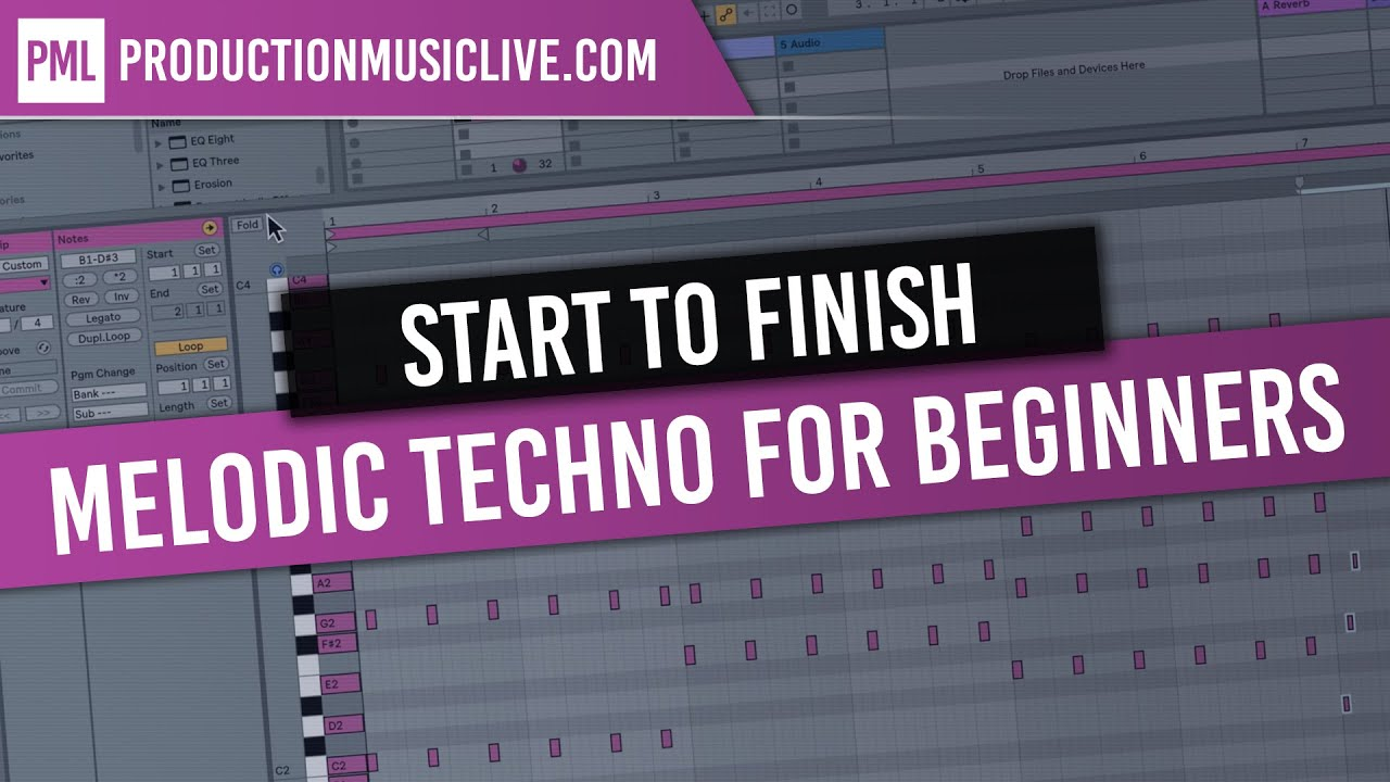 Making a TRACK START TO FINISH 2019 - Melodic Deep - Ableton Live Beginner Tutorial - Free MIDIs
