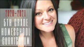 2020-2021 5th Grade Homeschool Curriculum Choices