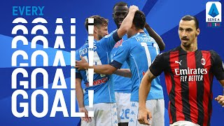 Zlatan's Derby Double and Napoli score FOUR against Atalanta! | EVERY Goal | Round 4 | Serie A TIM