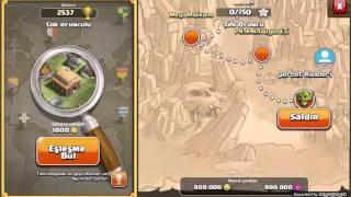 Clash of clans hileli 250 Yıldırım ile köyü aldık clash of clans Yıldırım saldırısı