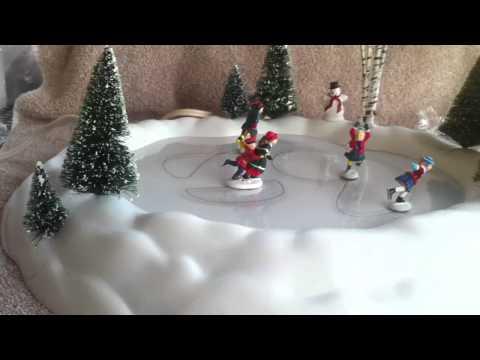Department 56 village animated skating pond