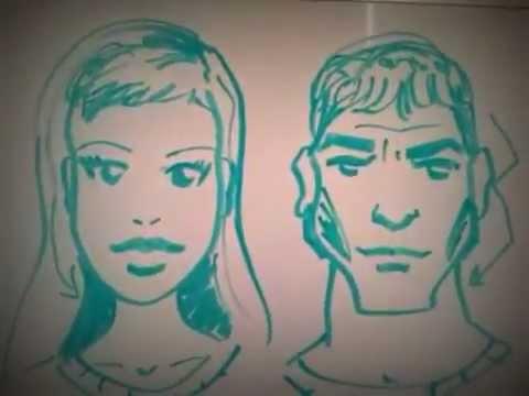 איך לצייר פנים גבר או אשה סודות ציור ללמוד מאת משה גליק