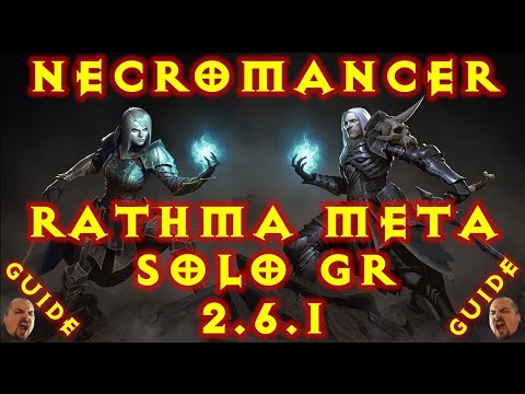 Diablo 3 Necromancer Pet Meta Rathma Summoner Solo GR 2.6.1