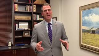 Governor Kevin Stitt's Congratulations Bill on 50 Video