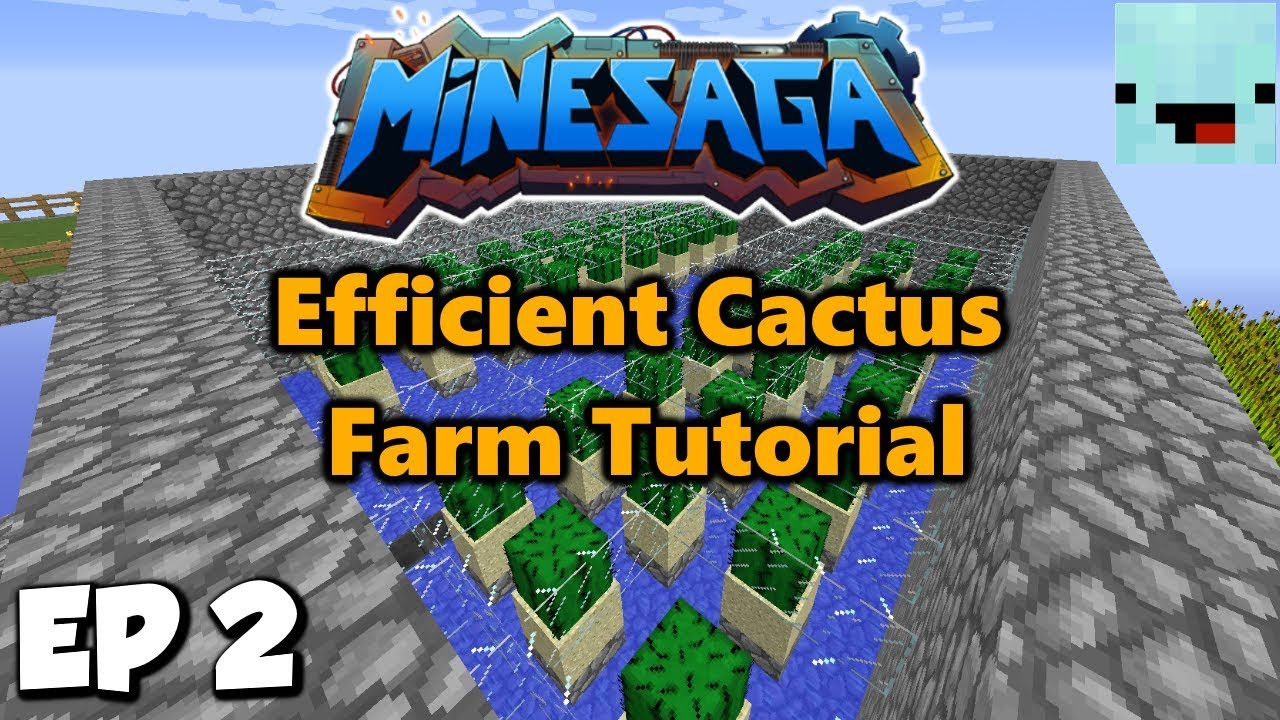 Loot Crates and Easy Cactus Farm Tutorial | Skyblock with
