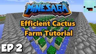 Loot Crates and Easy Cactus Farm Tutorial | Skyblock with NoobSniper Ep 2