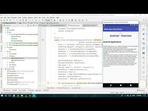 Book App using SQLite - Android Studio Tutorial