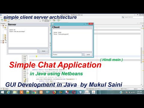 Chat Application In Java | Hindi Mein