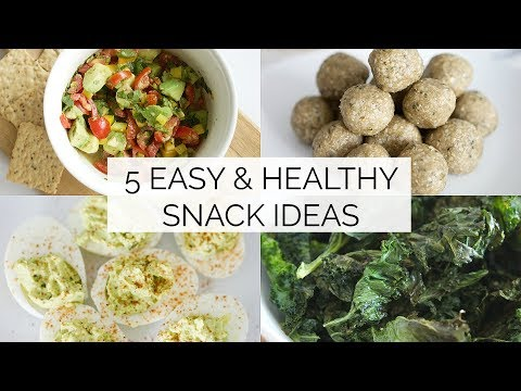 EASY & HEALTHY SNACK IDEAS | 5 simple snack recipes