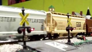 CSX Mixed Freight at Cedar Street Crossing, Brookfield, New Jersey - Part 1 - 01-11-10