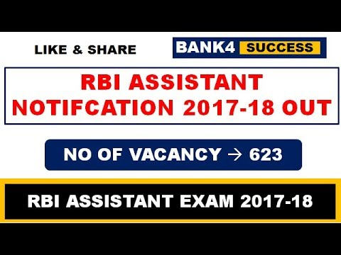 RBI Assistant Notification 2017-18 - Vacancy Detail, Exam Pattern and Syllabus
