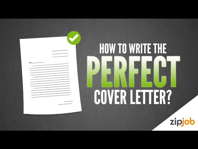 How To Write A Cover Letter Example Included Youtube