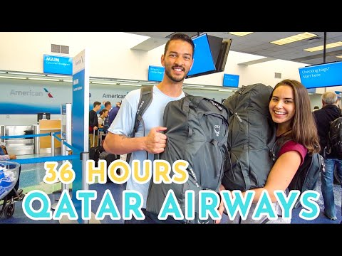 Qatar Airways Economy Class: Doha Airport,  Lounge and Food! 36 HOURS OF TRAVEL!