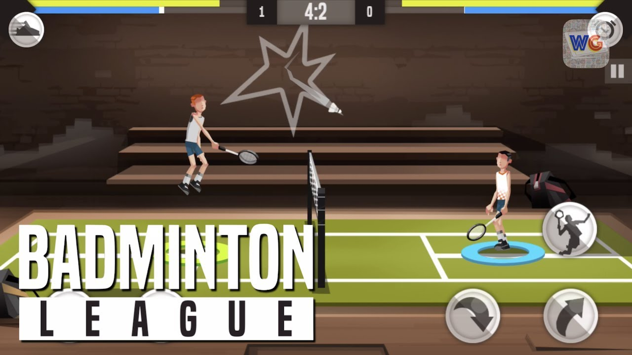 Badminton league game for iOS device