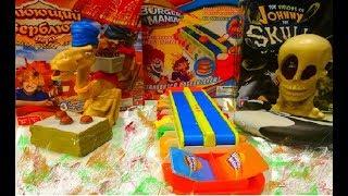 """Игра """"Джонни черепок"""", """"Бургер мания"""", """"Плюющий верблюд"""". Видео для детей. Канал Анабель"""
