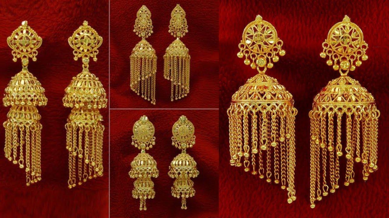 Chain Jhumka Earrings Designs 2018 Youtube