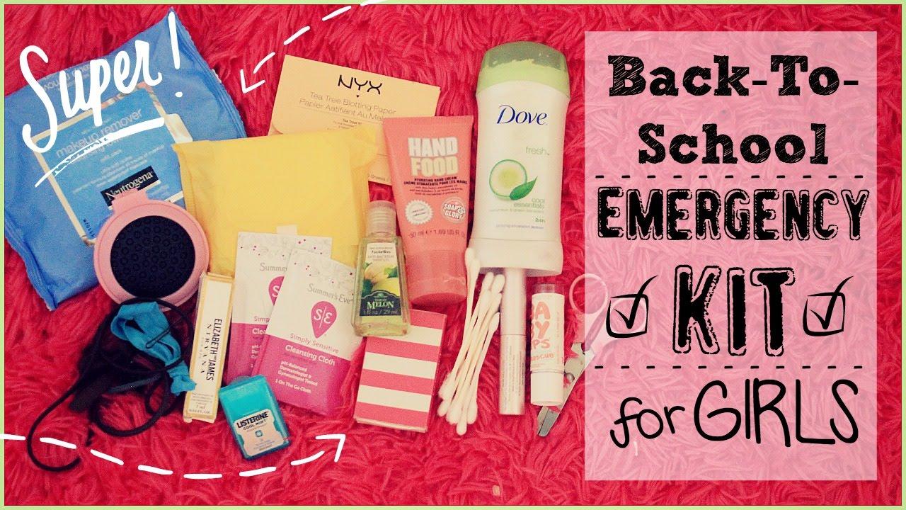 Back To School Emergency Kit For Girls Youtube