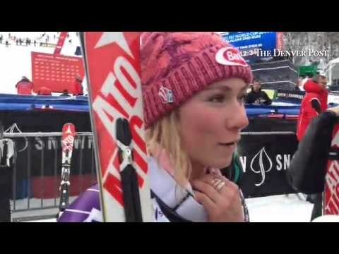 Mikaela Shiffrin reacts to finishing fifth in Sunday's World Cup slalom in Aspen after posting faste