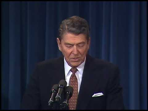 President Reagans Remarks At Briefing On The Canada Us Free Trade