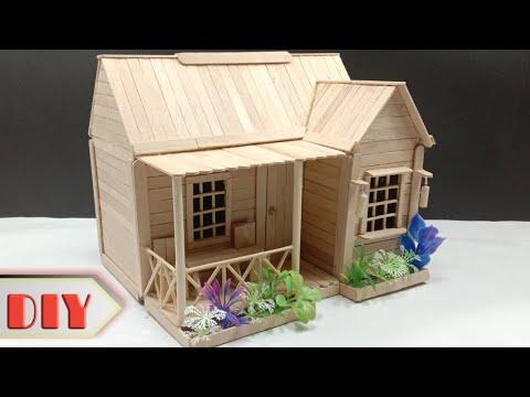 Tutorial Bikin Rumah Miniatur Dari Stick Ice Crem?.